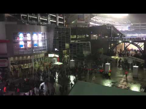 After Patriots victory over Steelers, fans pour out of Gillette Stadium