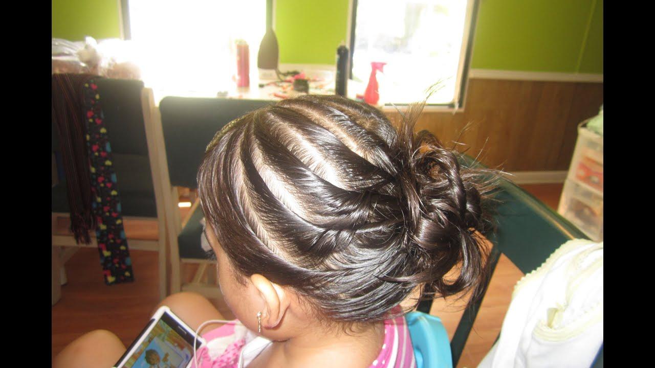 Peinados sencillos y facil para ninas opcion para - Peinados de ninas ...