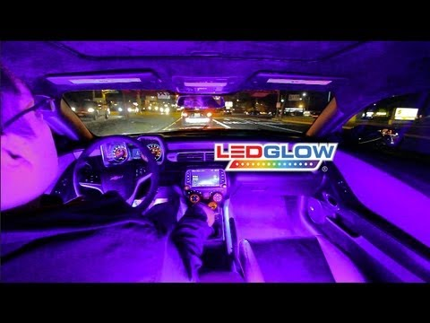 Ledglow S Purple Expandable Smd Led Interior Kit Youtube