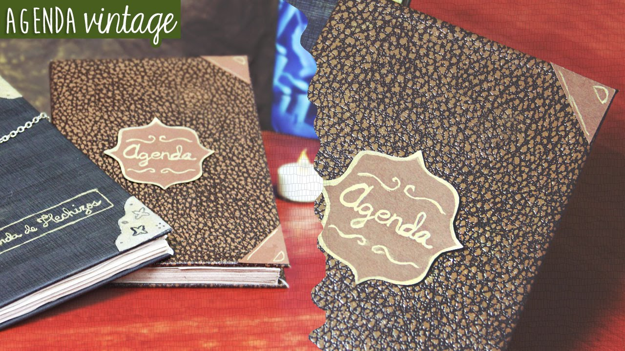 C mo hacer una agenda o libreta vintage harry potter craftingeek youtube - Como decorar una agenda ...