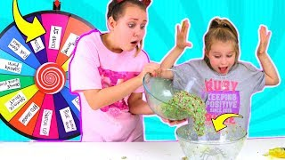 MYSTERY WHEEL OF DUMP IT SLIME CHALLENGE!!