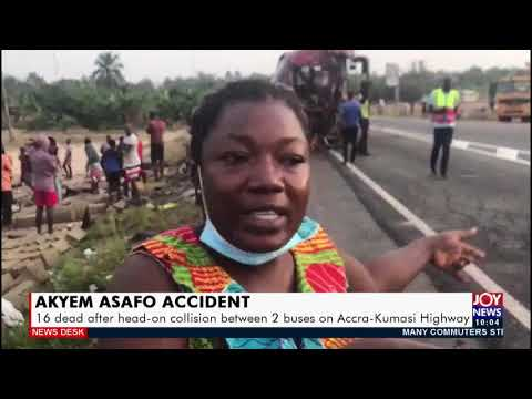 16 dead after head-on collision between 2 buses on Accra-Kumasi Highway - News Desk  (26-2-21)