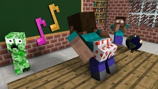 Monster School: The Mobs Caught Steve Dancing in the Classroom - Minecraft Animation