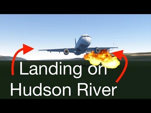 Landing on the HUDSON RIVER Sully Challenge