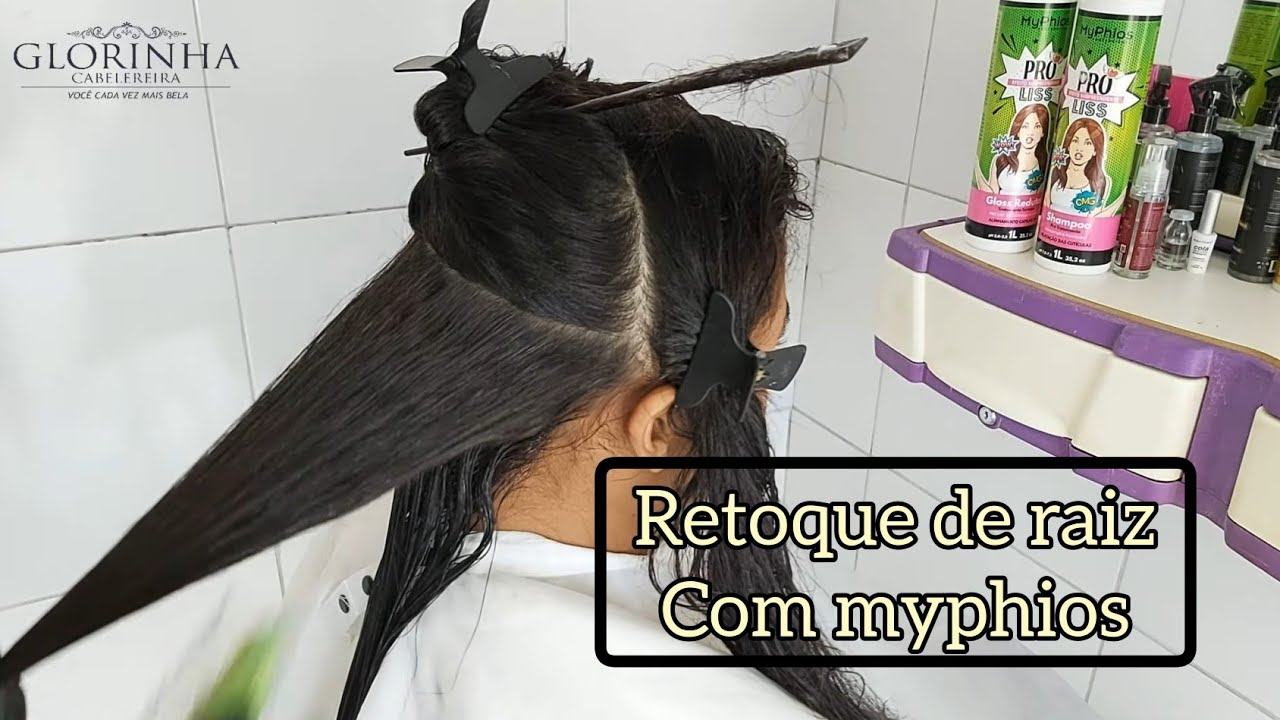 RETOQUE DE PROGRESSIVA COM A PROLISS DA MYPHIOS  LISO PERFEITO COM MUITO BRILHO -EFEITO LISO NATURAL