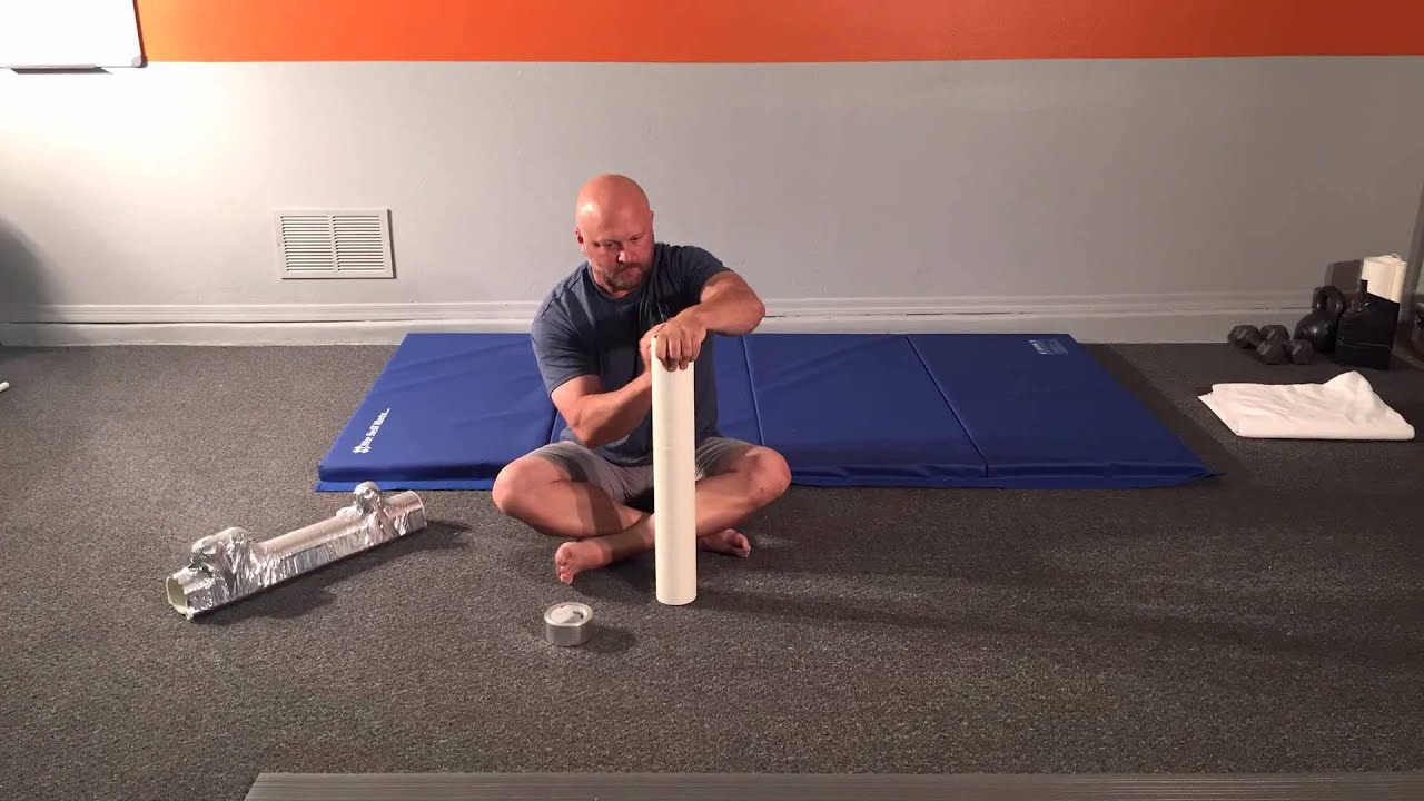 how to make the best foam roller cheap pvc roller brian trotter with www thewellnessdaddy. Black Bedroom Furniture Sets. Home Design Ideas