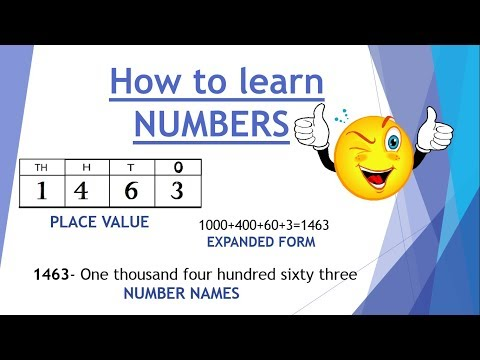 How to learn numbers, friendship with numbers, number names, expanded form of numbers, class 2 maths
