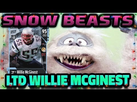 LIMITED EDITION WILLIE MCGINEST SNOW BEAST | MADDEN 18 ULTIMATE TEAM