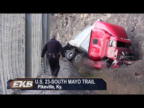 Tractor Trailer Crashes Into Mountainside In Pikeville