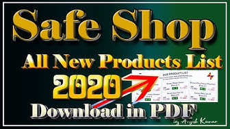Safe Shop New Product Price List 2020 in PDF  Download Safe Shop Plan 2020 in PDF
