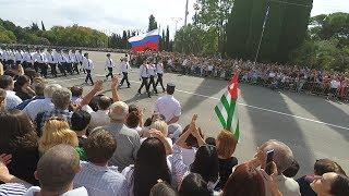Парад в честь 25-ой годовщины Победы в Отечественной войне народа Абхазии