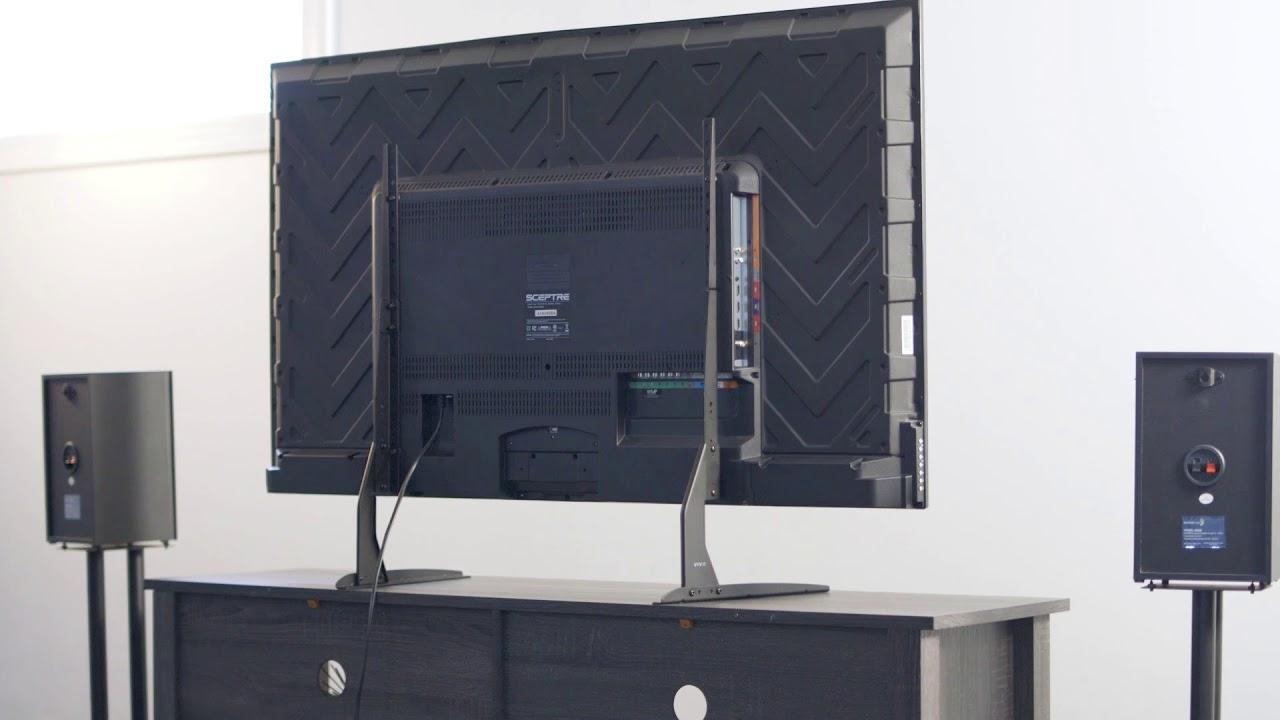 VIVO Universal LCD Flat Screen TV Table Top VESA Mount Stand Black  (STAND TV00Y)