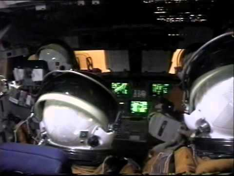 Space Shuttle Columbia STS 65  Re Entry & Landing   Onboard View 1994