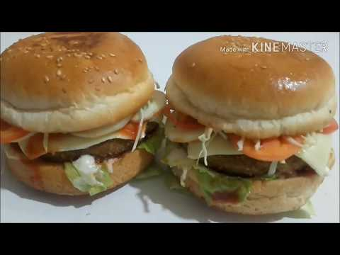 How To Make Chicken Burger At Home In Hindi Youtube