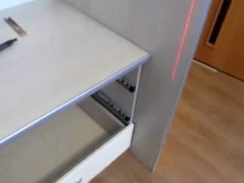 2037 серебро ящики стол компьютерный