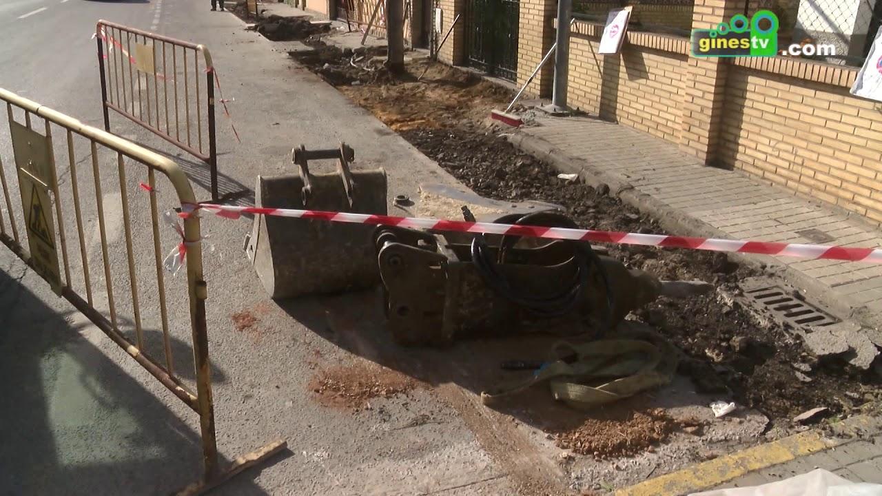 Ampliación y mejora del acerado de la calle Virgen del Pilar de Gines