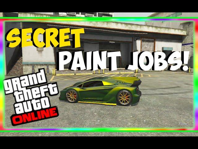 Gta 5 Paint Jobs Best Rare Paint Jobs Online Candy Kick Ass More Gta 5 Secret Paint Jobs