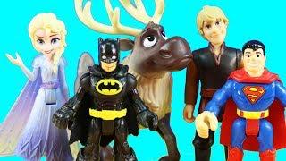 Frozen 2 Elsa Freezy Powers Battle Vs Mr. Freeze | Justice League Batman Rescues Superman