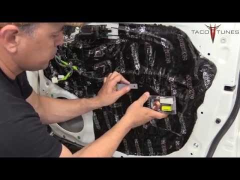 how to install component speakers in your toyota tacoma double access cab 2005 2015 youtube. Black Bedroom Furniture Sets. Home Design Ideas