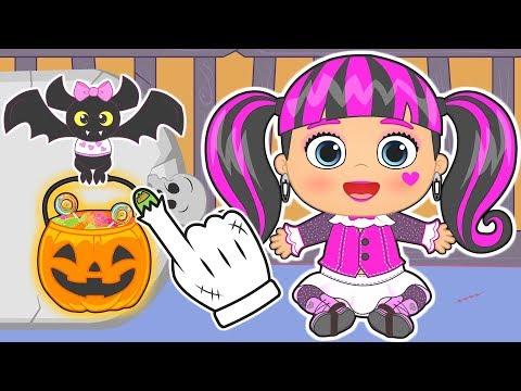 👶 BEBÉS de MONSTER HIGH 👶 Especial Halloween   Gameplay con Draculaura   Dibujos animados para niños