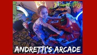 Andretti Arcade Princess Mia loves racing games