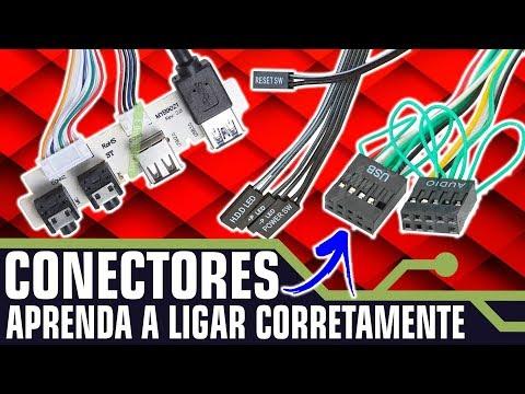 COMO LIGAR OS CONECTORES DO PAINEL FRONTAL DO PC
