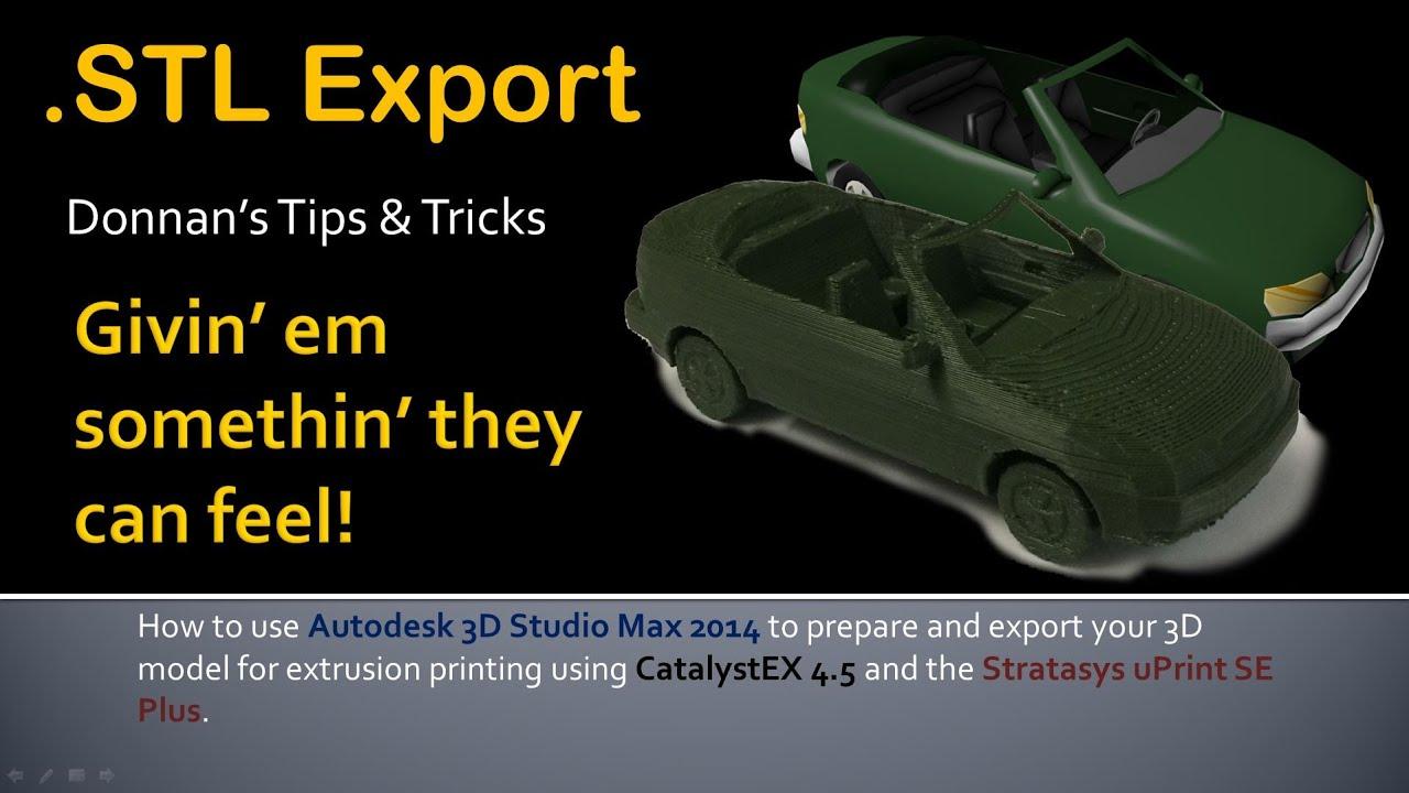 3d max export to pdf