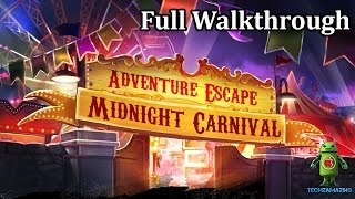 ADVENTURE ESCAPE MIDNIGHT CARNIVAL FULL WALKTHROUGH - GAMEPLAY