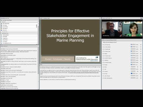 Principles for Effective Stakeholder Engagement in Marine Planning: Training #1