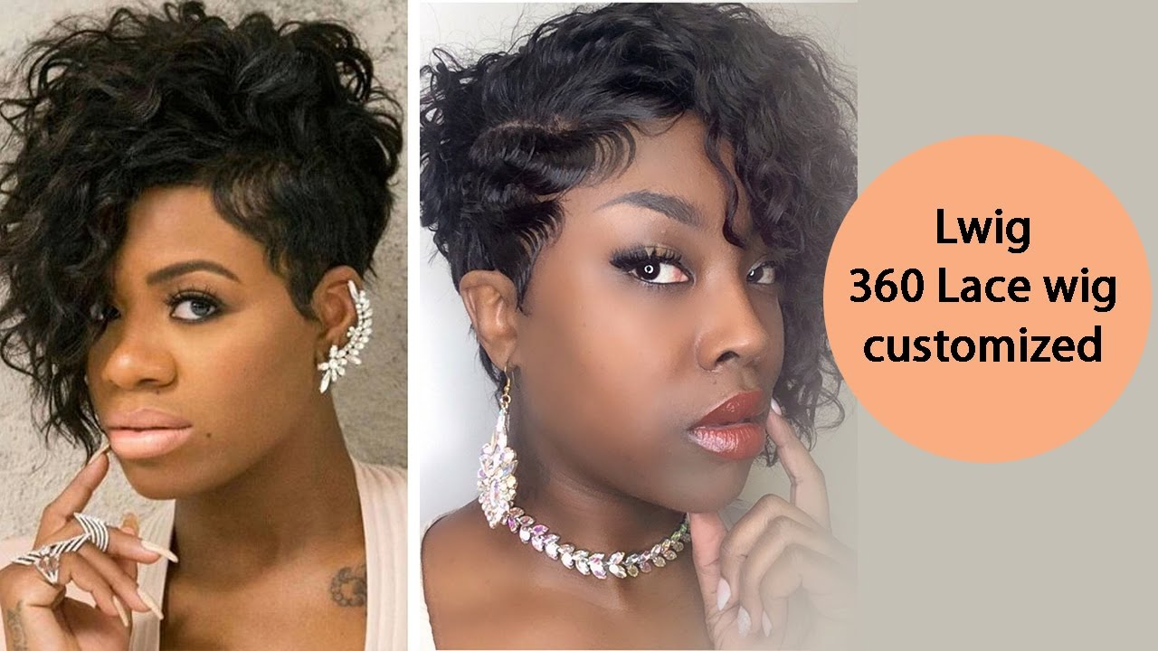Short Waved Lace Wig 360 Lwig Review Youtube