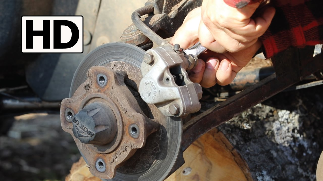 how to change atv brake pads arctic cat 500 [ 1280 x 720 Pixel ]