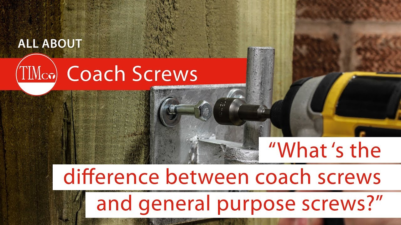 How to use coach screws l TIMco How To Tuesday