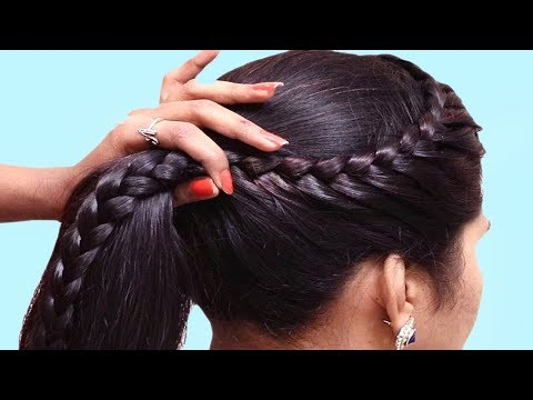 Quick and Easy Braided Hairstyle for School Girls 👍 Transformation Hairstyle Tutorial thumbnail