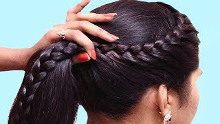 Quick and Easy Braided Hairstyle for School Girls 👍 Transformation Hairstyle Tutorial