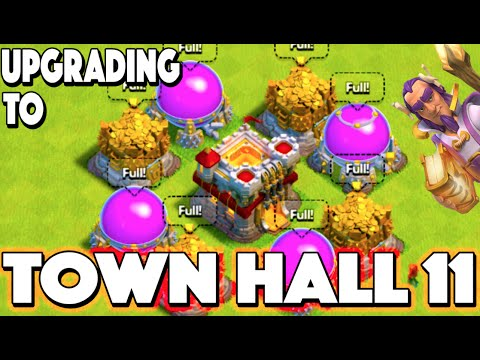 Clash of Clans - UPGRADING TO TOWN HALL 11! 100% Maxed Out Town Hall 11 + Maxed Grand Warden & Witch