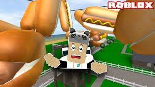Sosisli Sandviç Yağmurundan Kaçış! - Panda ile Roblox Survive The Disasters
