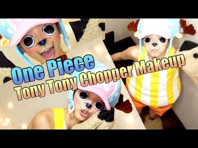 Halloween Makeup☆One Piece Tony Tony Chopper Makeup☆トニートニー・チョッパーになってみた