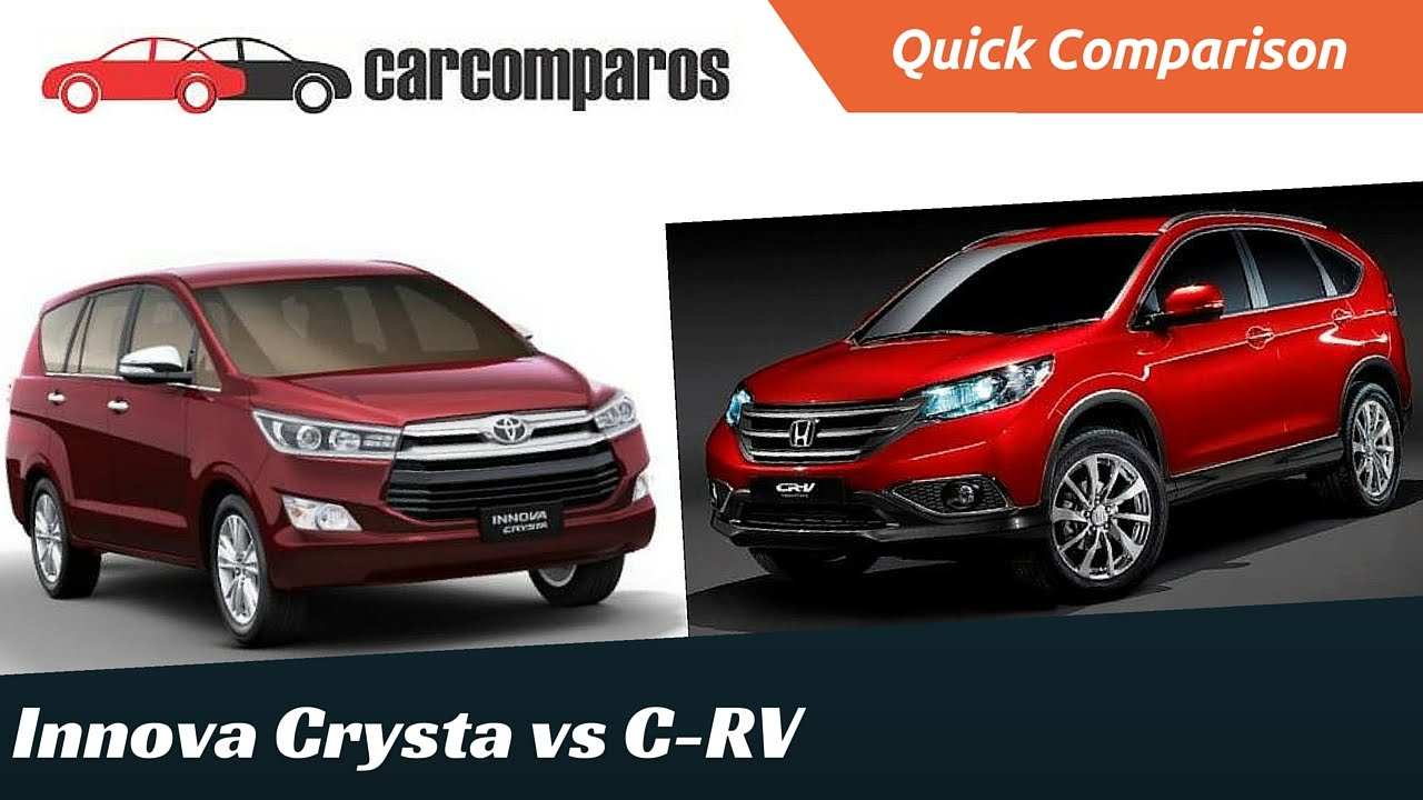 all new kijang innova vs crv spesifikasi toyota grand veloz 1.3 crysta honda comparison review youtube