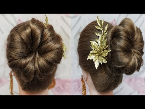 Simple juda updo hairstyle for long hair || Juda Hairstyle || Raksha Bandhan Special Hairstyle thumbnail