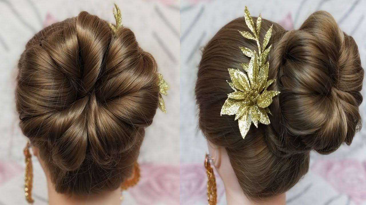 Simple Juda Updo Hairstyle For Long Hair Juda Hairstyle Raksha Bandhan Special Hairstyle Youtube