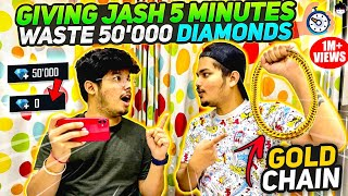 Ritik Gave Jash 5 Minutes To Spend 50000💎 Diamonds Challenge😱 - Two Side Gamers || Free Fire