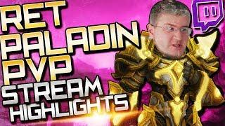 Ret Paladin Arena: Stream Highlights (BFA Ret Paladin PvP)