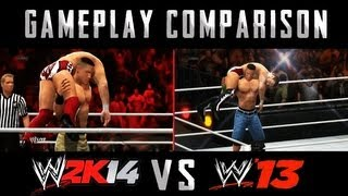 WWE 2K14 vs WWE 13 NEW! Gameplay Comparison HD!