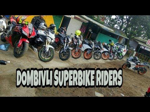 Mumbai-Lonavla Breakfast Ride(Dombivli Superbike Riders) Kawasaki Benelli KTM Pulsar Triumph CBR600