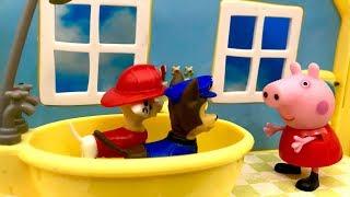 Psi Patrol i Świnka Peppa ☺ Cudowna kąpiel ☺ Bajka dla dzieci PO POLSKU