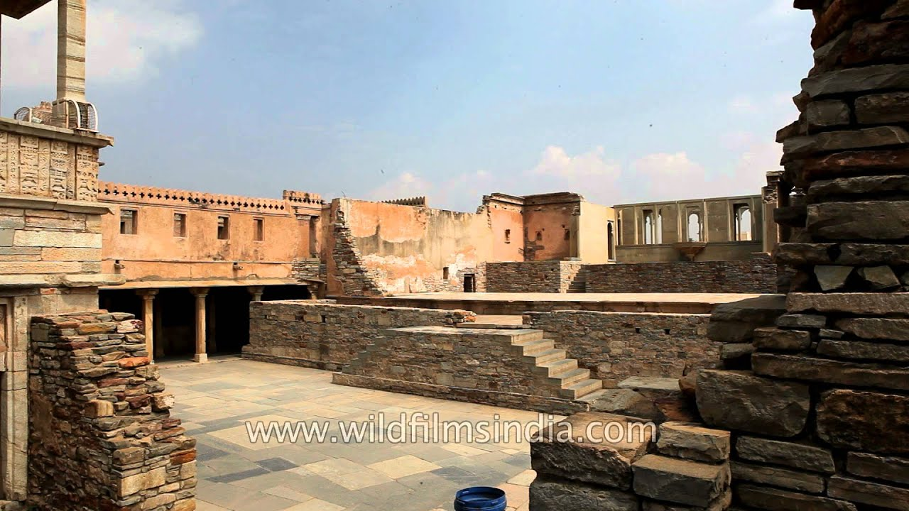 structures inside chittorgarh fort rajasthan youtube