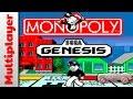 Monopoly (1992) - Sega Genesis / Mega Drive (Multiplayer Gameplay) HD