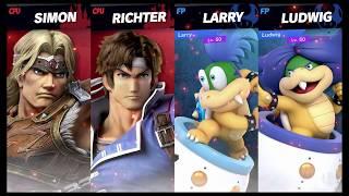 Super Smash Bros Ultimate Amiibo Fights Request #618 Team Castlevania vs Koopalings
