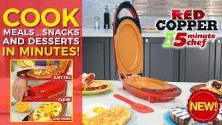 Red Copper 5 Mins Chef - Cook Meals in Minutes