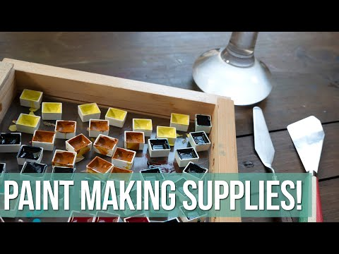 Paint Making Supplies - Everything I Use To Make Watercolors